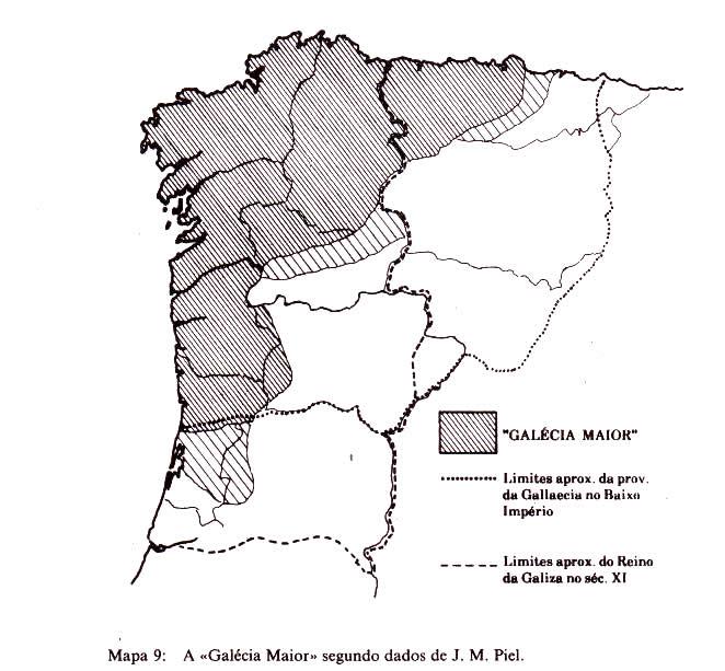 Galécia Maior a partir de dados de Joseph Piel