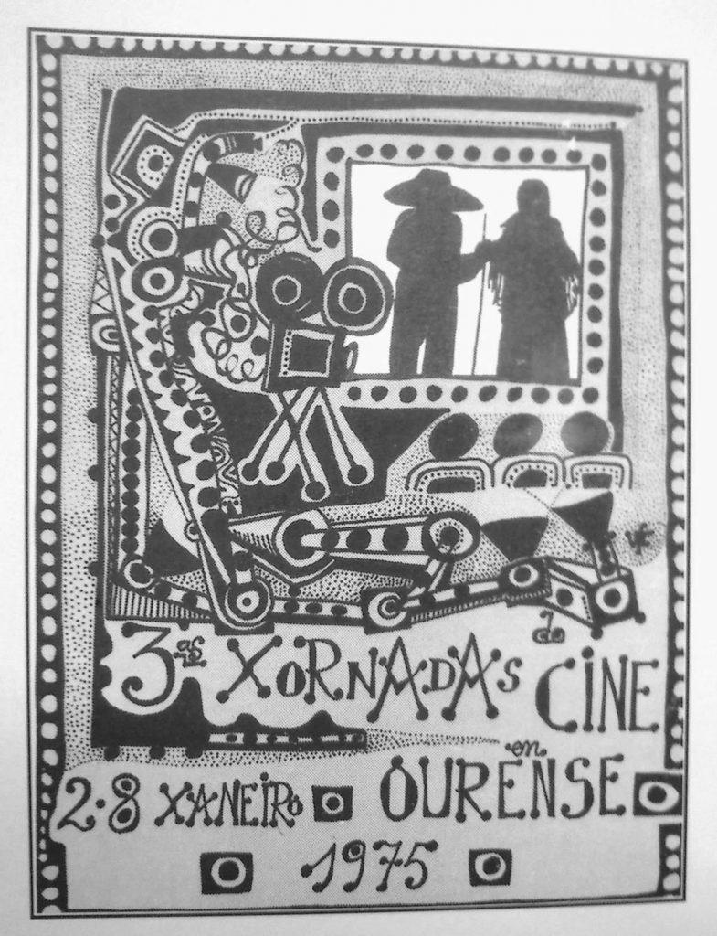 CINEMA GALEGO Cartaz III Jornadas do Cinema Ourense 1975