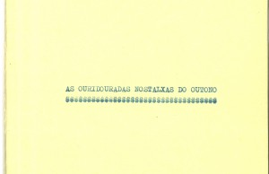 Capa de 'As ouridouradas nostalxas do outono'