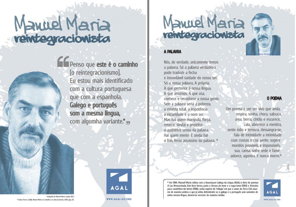 Composiçom em que aparecem os dous cartazes editados pola AGAL