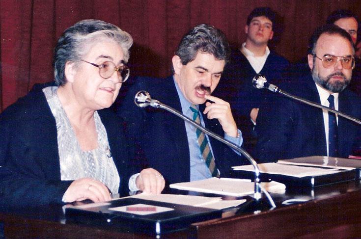 MARTA MATA no Conselho Escolar de Barcelona 1990