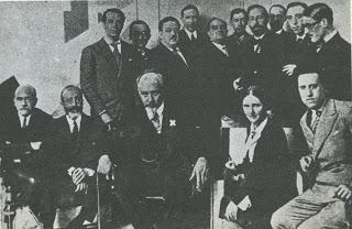 Com Baroja, Alberti, Salinas e Outros