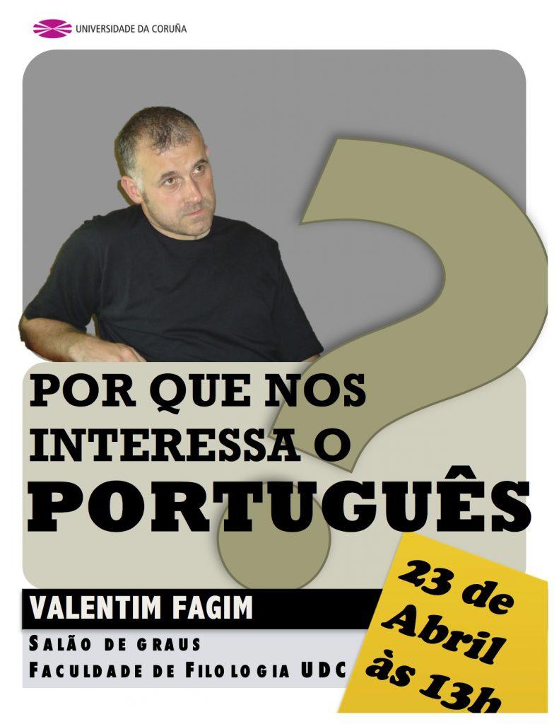 cartaz palestra Valentim Fagim na UdC