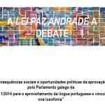 Cartaz palestra lei Paz-Andrade