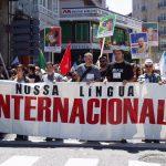 Faixa da AGAL na manifestaçom do 17 de Maio de 2017 (foto Madeira de Uz)