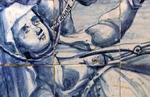 Azulejos representando o martírio de Santa Ketavan