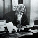 Tagore, no seu escritório