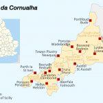 Mapa da Cornualha