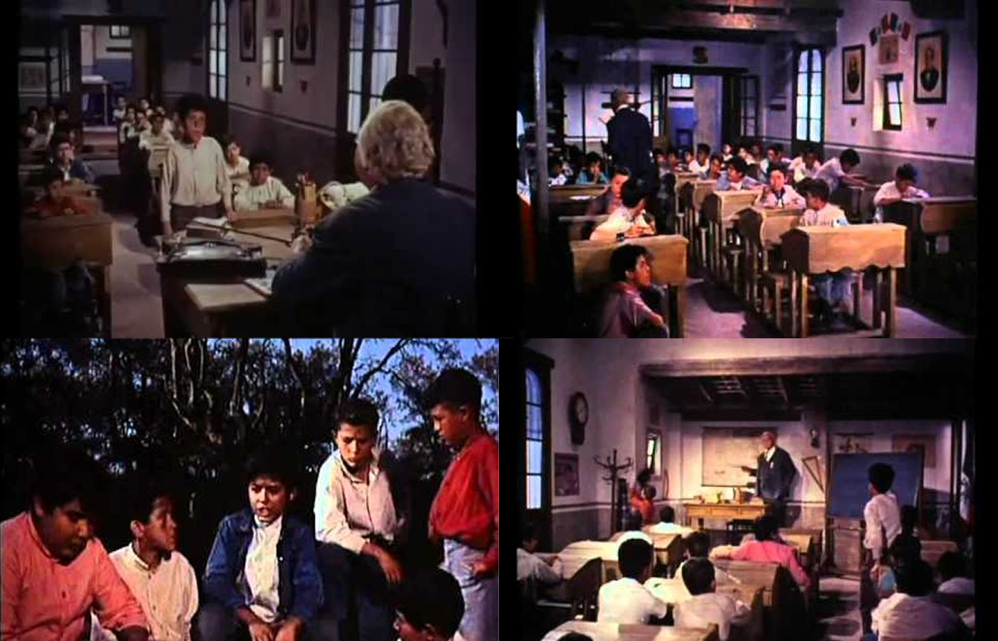 Composição com quatro fotogramas do filme
