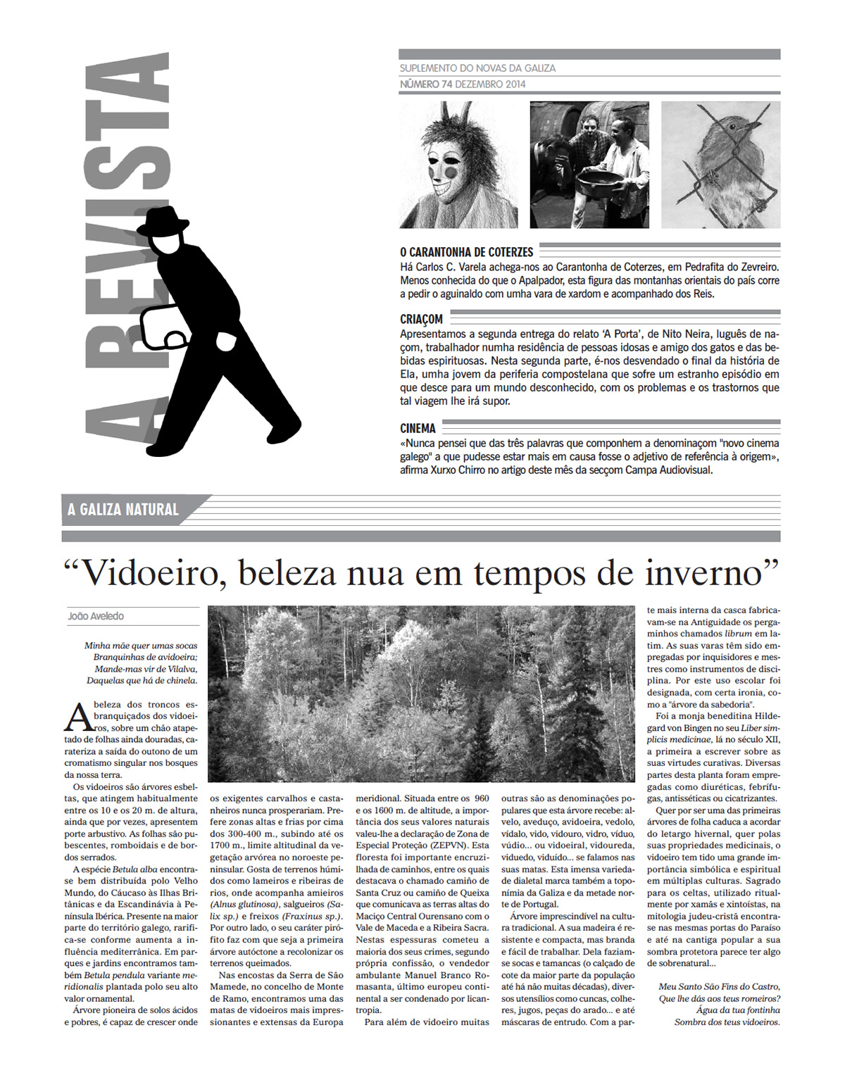 Capa de 'A Revista', n.º 74