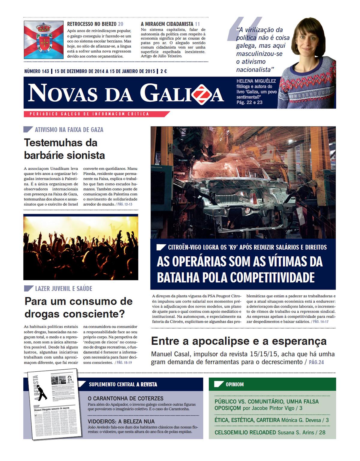 Capa do n.º 143 do 'Novas da Galiza'