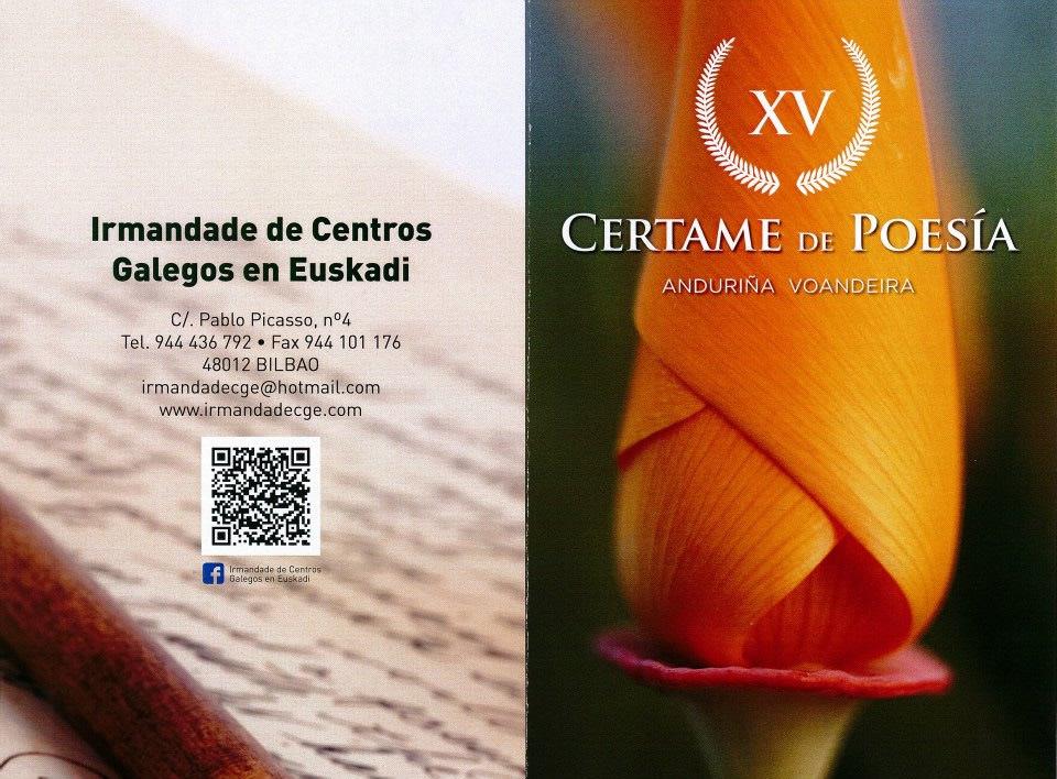 XV Certame de Poesia 'Andorinha Voandeira'