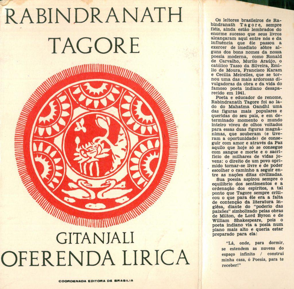 Capa do livro Gitanjali (Oferenda Lírica')