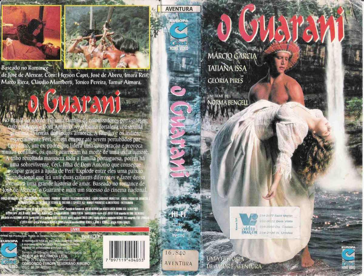 Filmografia Literaria Brasil O Guarani Capa DVD0 - Portal Galego da Língua  - PGL.gal