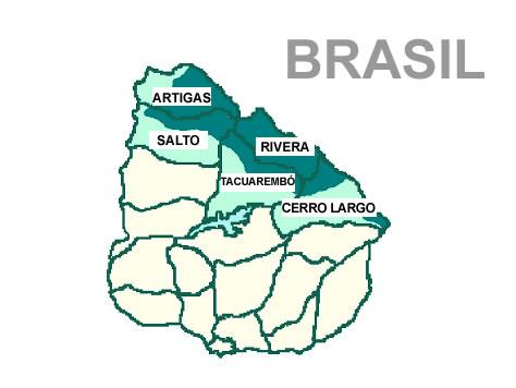 Distribiução da língua portuguesa no Uruguai