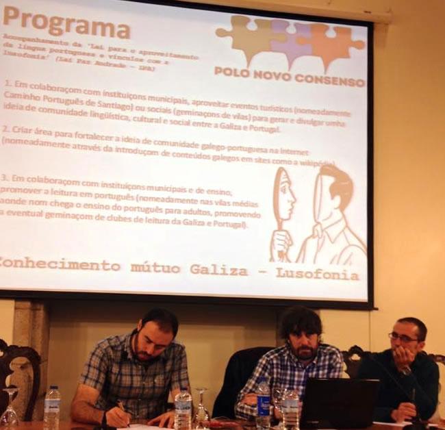 Eduardo Maragoto apresenta o programa à assembleia geral