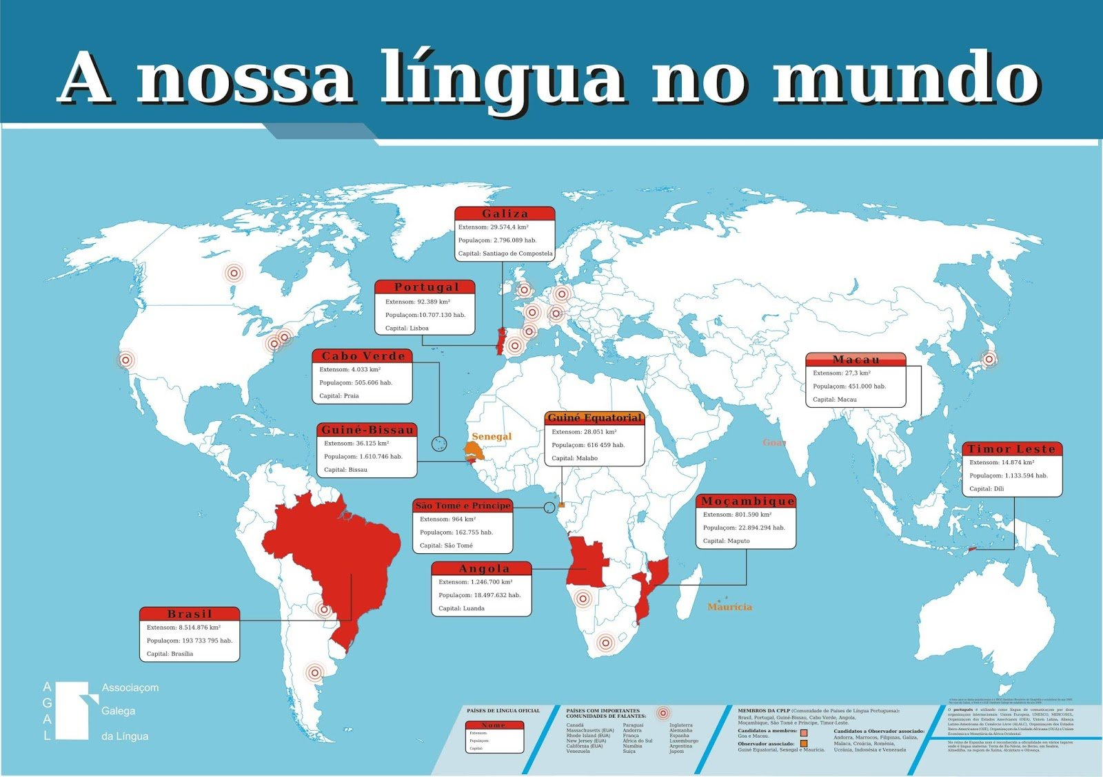 mapa países lusófonos DAR A CONHECER AOS ESCOLARES O VALOR DO MUNDO LUSÓFONO mapa países lusófonos
