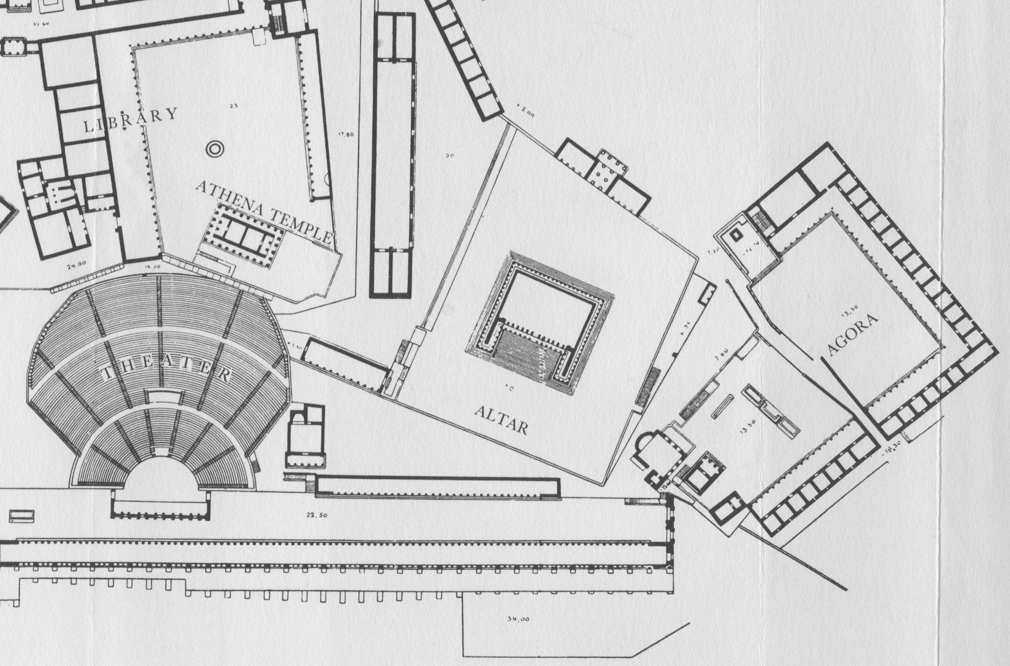 1º. Mapa da Acrópole da cidade de Pérgamo.