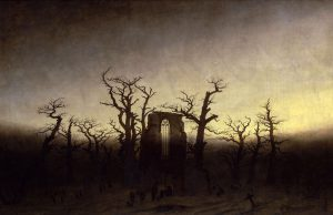 3º. Abadia no carvalhal. 1809-1810. Caspar David Friedrich.