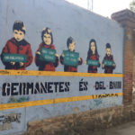 Pintada numa rua do bairro de L'Eixample (Barcelona)