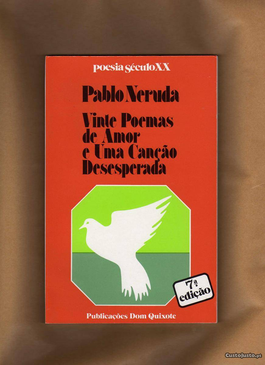 Capa do livro 20 poemas de amor e uma canção desesperada, de Pablo Neruda. Ed dom quixote