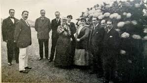 Emilia Pardo Bazám com amigos em NY