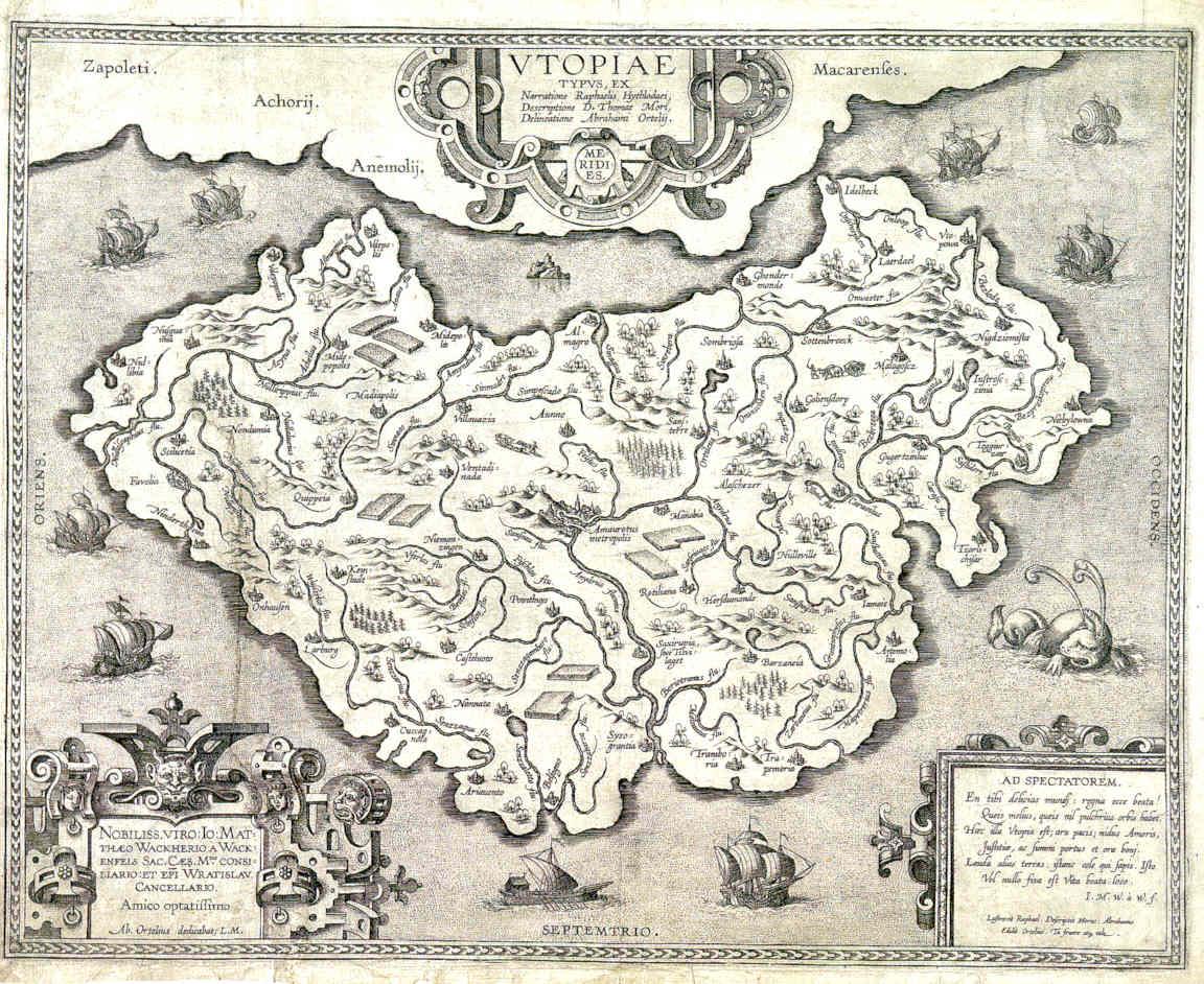 Mapa de Abraham Ortelius, ca. 1595.