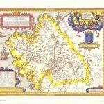 mapa do Antigo Reino de Galiza, feito por Ioannes Baptista Vrints (1603)